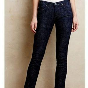 Ag the Stevie ankle polka-dot jeans